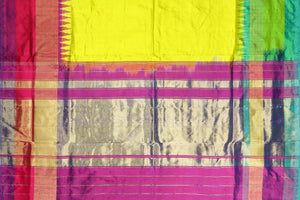 zari border of pochampally silk saree