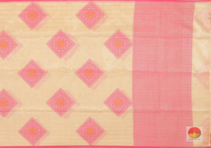 Handwoven Banarasi Silk Cotton Saree - PSC 535 Archives
