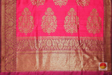 pallu of banarasi matka silk saree