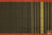 Textured Checks - Handwoven Pure Silk Kanjivaram - Pure Zari - PV G 2009 Archives