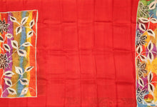 body, border and pallu detail in batik silk saree