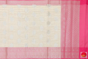 body, border and pallu details of banarasi tissue by cotton saree