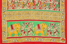 Load image into Gallery viewer, pallu detail of kalamkari silk saree