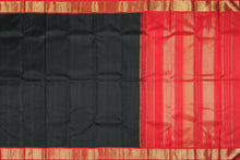 Traditional Design handwoven black kanjivaram saree