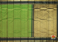 body and pallu of  green  kanjivaram pure silk saree