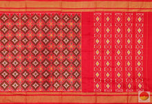 body and pallu of pochampally ikkat silk saree