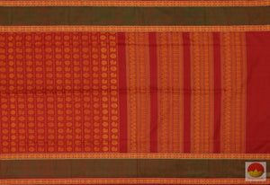body, border and pallu of kanchi silk cotton saree