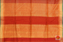 Load image into Gallery viewer, pallu detail of silk cotton saree