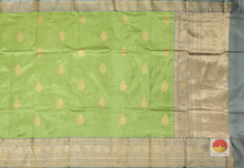 Drape of body and pallu of banarasi silk saree