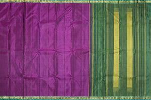 Magenta Body of traditional design kanjivaram pure silk saree