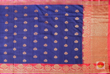 body and pallu of banarasi silk saree