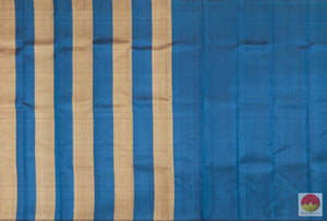 Borderless - Handwoven Pure Silk Kanjivaram Saree - Non Zari - PV G 1997 - Archives