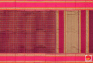 body and pallu of cotton saree