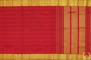 body, border and pallu detail of kanjivaram silk saree