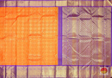 Load image into Gallery viewer, body, border and pallu detail of kanjivaram pure silk saree