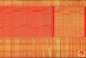 body, border and pallu detail of kanjivaram pure silk saree