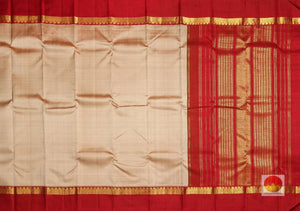 body and pallu of  red  kanjivaram pure silk saree