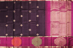 Traditional Design - Handwoven Kanjivaram Silk Saree - Pure Zari - PVM 0318 1010