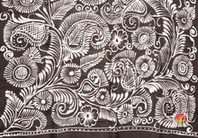 Handpainted Batik Silk Saree - Partly Pallu - PB 93 Archives