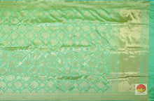 body and pallu of banarasi pure silk saree