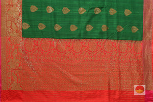 pallu detail of banarasi matka silk saree