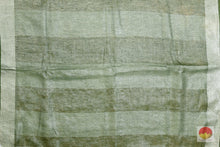 pallu of linen saree