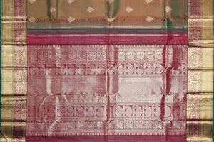 pallu design detail of kanjivaram pure silk saree