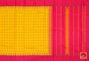 body, border and pallu details of kanjivaram silk saree