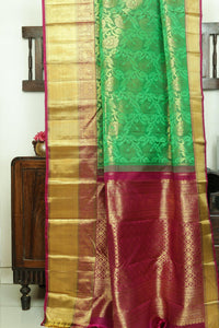 Traditional Design Handwoven Pure Silk Kanjivaram Saree - Bridal Saree - PBR 008