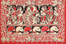 Handpainted Kalamkari Silk Saree - Organic Dyes - PKD 136 Archives