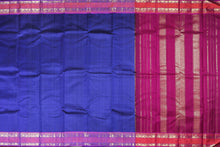 ms blue and pink handwoven kanjivaram pure silk saree