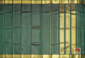 body and pallu of bottle green kanjivaram pure silk saree