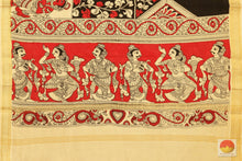 Handpainted Kalamkari Dupatta - Vegetable Dyes - KD 08