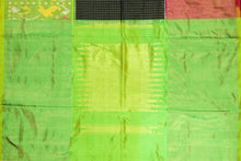green border view of pochampally silk saree
