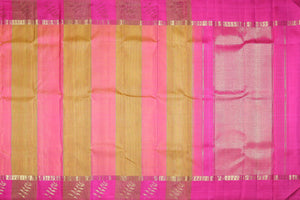 Traditional design kanjivaram pure silk sari with  stripes