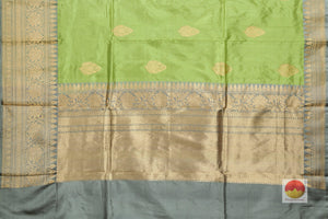 pallu detail of banarasi silk saree