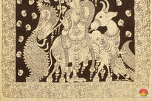 pallu detail of kalamkari silk saree