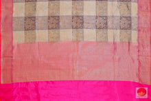pallu of banarasi silk saree