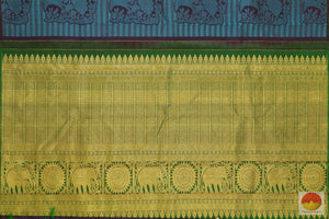 pallu of kanjivaram silk saree