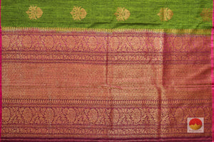 Borderless Banarasi Silk Saree - Matka Silk - PM 31 Archives