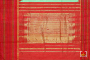 pallu detail of kanjivaram jute silk saree