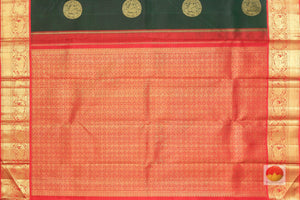 pallu detail of traditional design kanjivaram pure silk saree