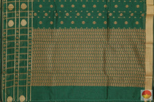 pallu details of banarasi silk cotton saree