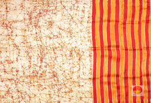 Load image into Gallery viewer, pleats section of partly pallu batik pure silk saree