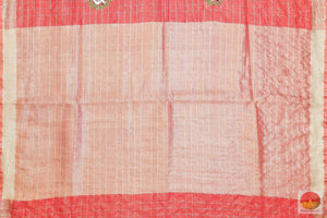 Handwoven Linen Sari - Embroidered Linen - PL 202