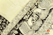 body, pallu and border of kalamkari silk saree