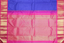 pink pallu of traditional design kanjivaram pure silk saree
