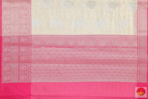 pallu details of banarasi tissue by cotton saree