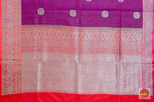 pallu detail of matka silk saree