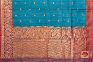 Lite Weight Handwoven Banarasi Silk Saree - Matka Silk - PM 34 Archives